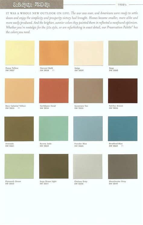mid century modern colors midcentury paint colors paint palettes and powder