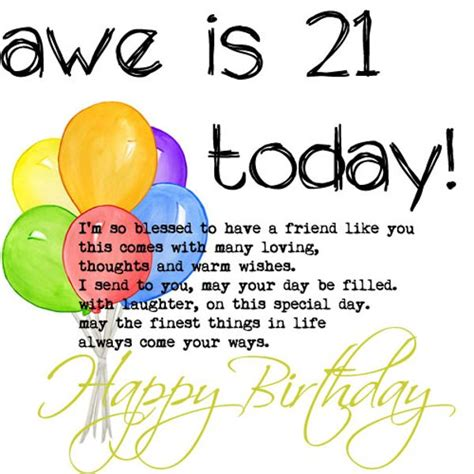 Happy 21 Birthday Wishes Happy 21st Birthday Wishes For A Friend Pictures Reference