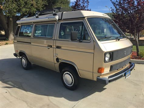 volkswagen westfalia 1985 vw vanagon westfalia cer auction in lompoc ca