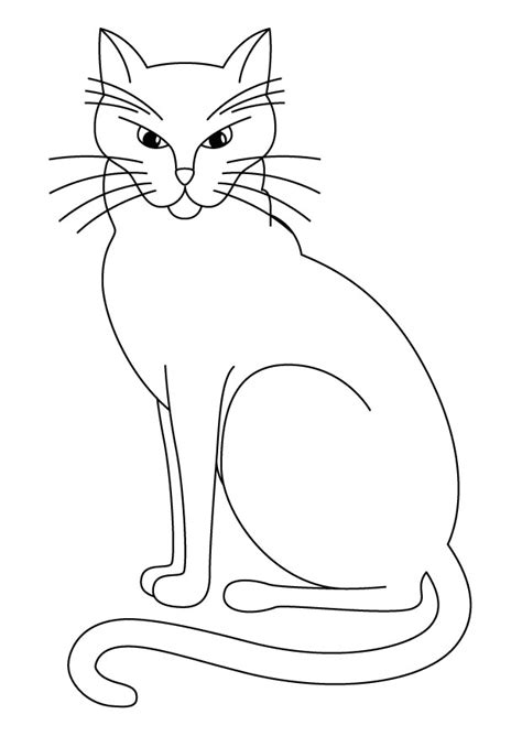 black and white coloring pages of cats free printable cat coloring pages for kids
