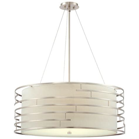 Satin Nickel Pendant Light Fixtures Philips Labyrinth 4 Light Satin Nickel Hanging Pendant 190216836 The Home Depot