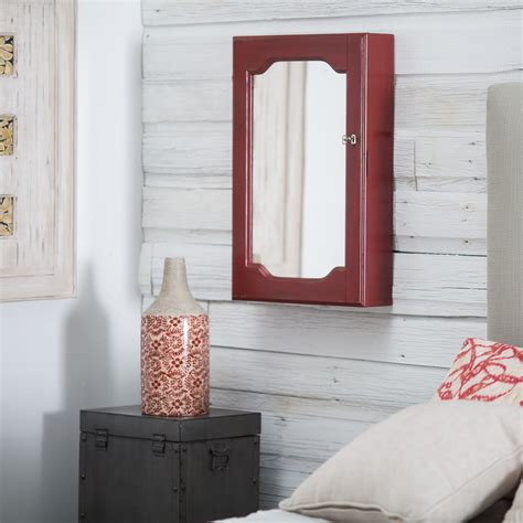 red jewelry armoire distressed wall mount mirrored locking jewelry armoire red jewelry armoires at