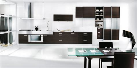 modern black kitchen modern black and white kitchen design interior design ideas