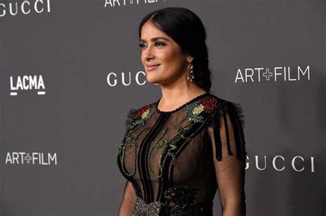 Salma Top salma hayek is the gucci est at the 2016 lacma