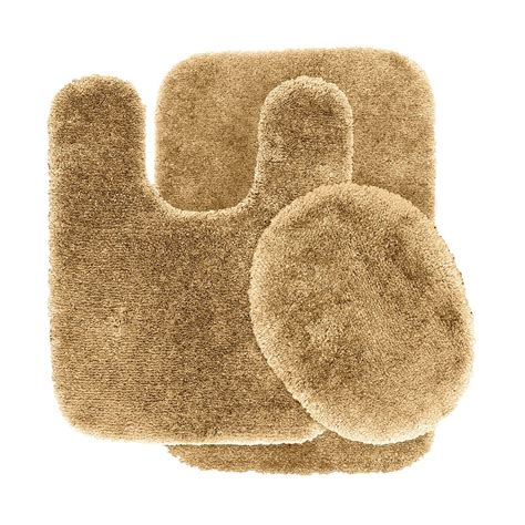 Garland Rug Pre 3pc Finest Luxury Ultra Plush Washable Bathroom Rug