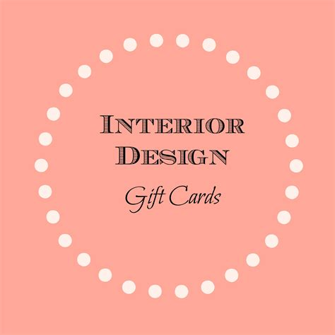 Designer Gift Cards - interior design gift cards heather interior designheather interior design