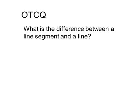 What Is The Difference Between An A Line Cut And A Bob | what is the difference between a line segment and a line