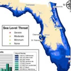 sea level rise florida map sea level rise green policy