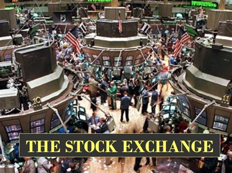 Wall Trading Floor by Power Point The Stock Exchange Market