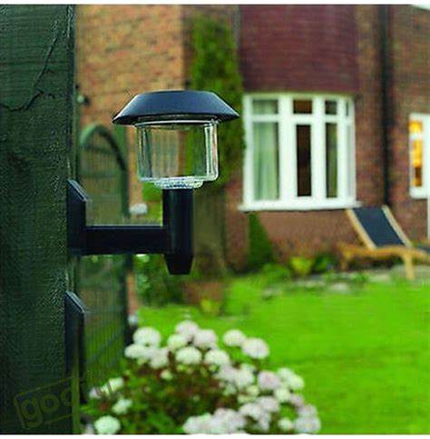 backyard solar power 1piece solar power wall light fence led outdoor lighting