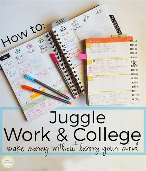 college work juggling work and college tips for success student work