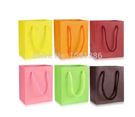 bulk paper gift bags with handles aliexpress buy paper gift bag festival gift bags paper bag with handles wholesale price