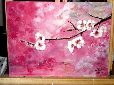 sakura flower mural wall painting youtube timelapse acrylic painting cherry blossoms how to paint
