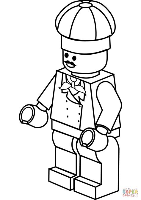 lego chef coloring page free printable coloring pages