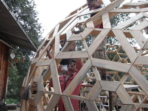 living small cheap and simple try a dome house treehugger diy wooden dome built from pallets