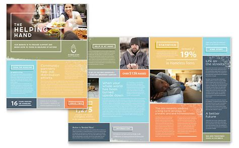 illustrator newsletter templates homeless shelter newsletter template design