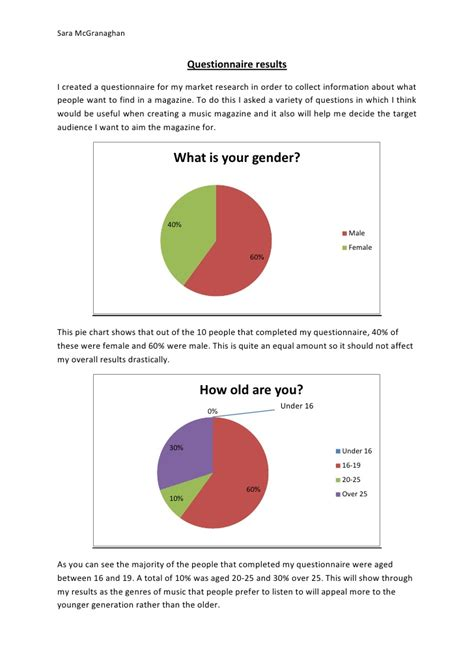 How To Make A Pie Chart On Paper - questionnaire pie charts