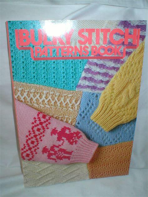 knitting machine patterns bulky stitch patterns book for chunky knitting