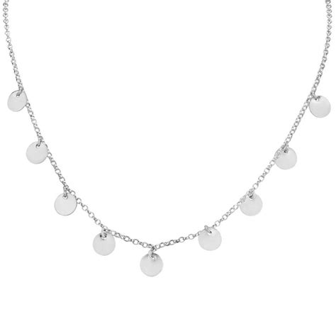 Discs Necklace sterling silver disc drop necklace by the jewellery