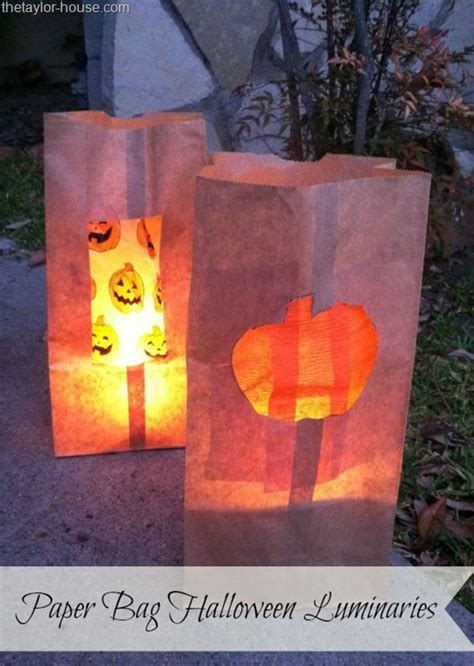 patterns for paper bag luminaries halloween craft paper bag halloween luminaries the