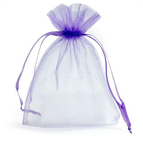 lilac organza bags with drawstring favour bags carrier