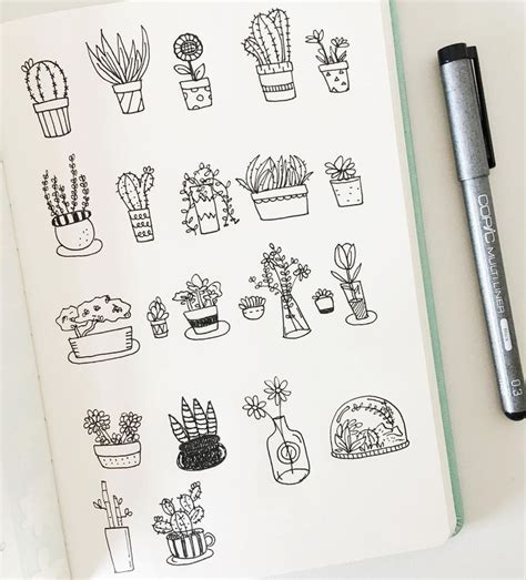 how to doodle ideas 25 beautiful plant drawing ideas on plant