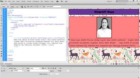 princess gladys ingrid membuat tabel princess gladys ingrid membuat biografi dengan html
