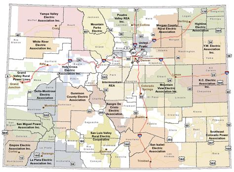 co map colorado rural electric association co op map of colorado list of member co ops
