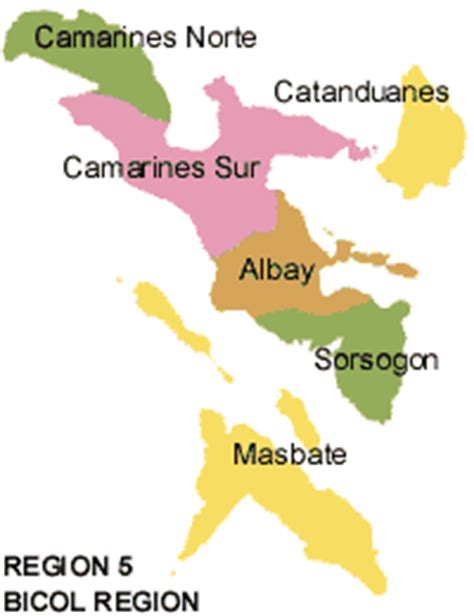 5 regions of map region v in the philippines travel to the philippines