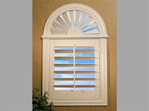 arch window covering ideas sunburst arch top shutters image sunburst shutters