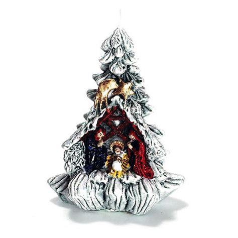 weihnachtsbaum mit krippe klein 15 00 kerzen zum