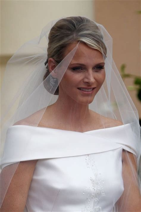 princess charlene wedding hair fuzz family the prince and princess of monaco s wedding