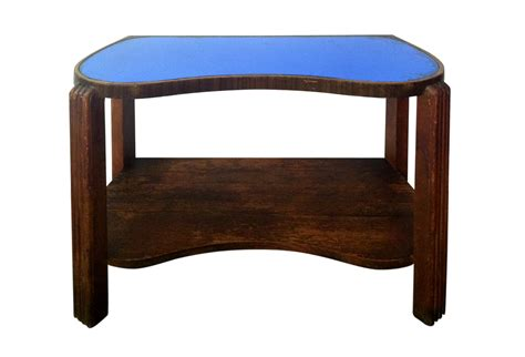 Blue Glass Table L Deco Blue Glass Table Omero Home