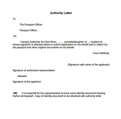 authorization letter format to collect passport passport authorization letter 11 free sles