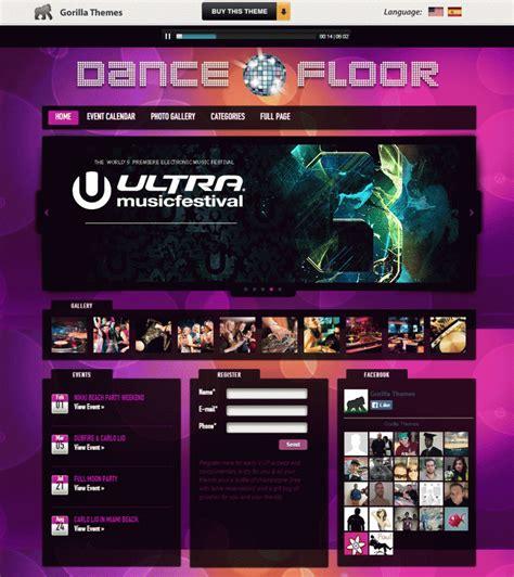theme wordpress dance dance floor dj wordpress theme thefloors co