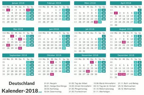 Kalender Sachsen 2018 Kalender 2018 Mit Feiertagen Ferien