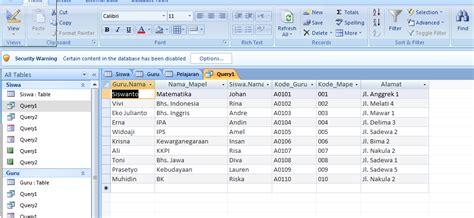 langka membuat query langkah langkah membuat database teknik informatika