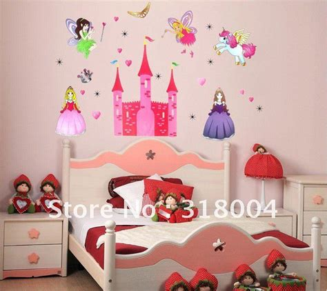 kids room wall decor princess castle removable cartoon wall sticker kids room