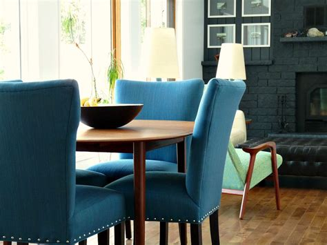 Update Dining Room Chairs by New Blue Tweed Dining Room Chairs Update The Dans L And