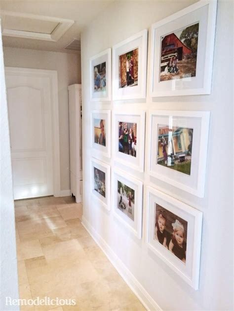 gallery decorating by donna color family photo wall gallery with budget white frames white and neutral decor wall