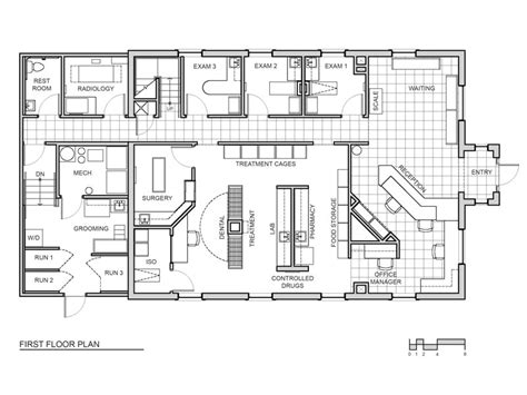 floor plan of a hospital 2009 hospital design s choice award winner concord chapel animal hospital