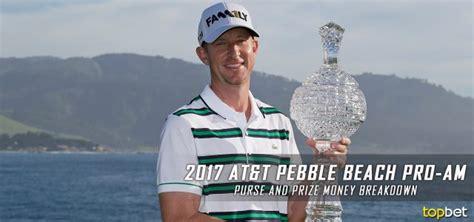 Pga Pebble Beach Money Winnings - 2017 at t pebble beach pro am purse prize money breakdown