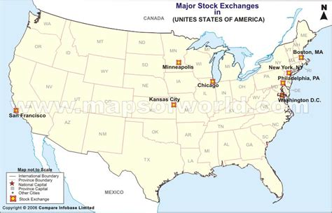 chicago in map of usa usa stock exchange map list of stock exchange in usa