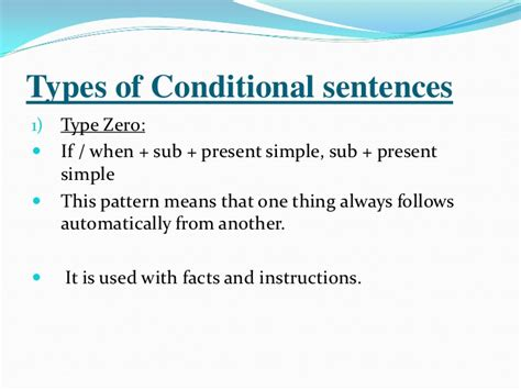 the pattern of conditional sentences conditionals english for palestine