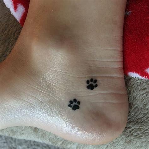 small paw print tattoo best 25 paw print tattoos ideas on