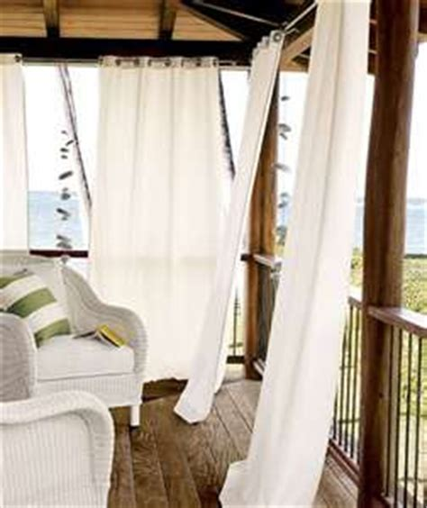 how to keep from blowing in on porch sew outdoor drapery panels
