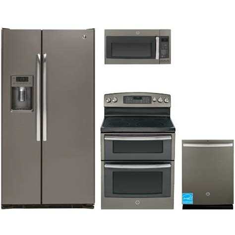 complete kitchen appliance packages ge slate complete kitchen package gzs22dmjes