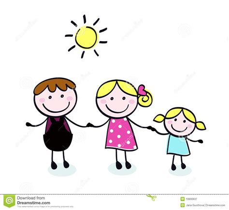 kid doodle free doodle family and kid stock vector
