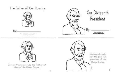 presidents day coloring pages preschool president s day emergent readers