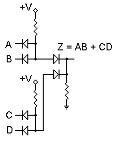 diode circuit of logic gates diode logic
